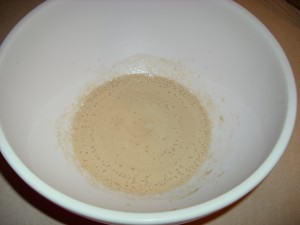 Proofed yeast mixture