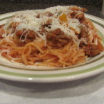 #WordlessWednesday Sausage & Pepper Spaghetti
