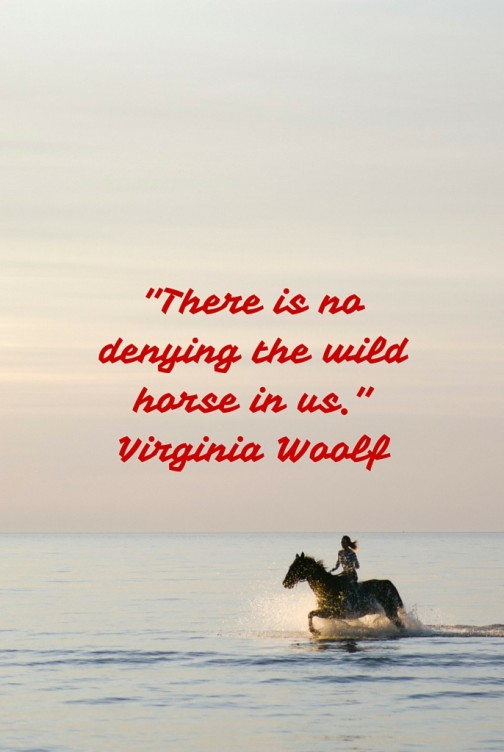 There is no denying the wild horse in us. Virginia Woolf
