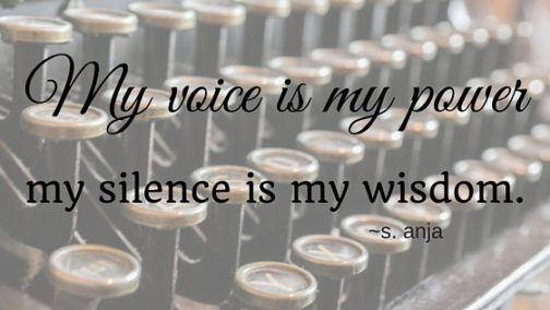 My voice is my power